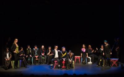 Photos de théâtre avec des personnes en situation de handicap