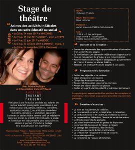 Formation à l'animation théâtrale - Enseigner le théâtre