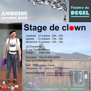 Stage de clown de théâtre en octobre 2018 à Amboise