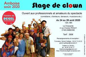 Stage de clown de théâtre du 24 au 28 août 2020 à Amboise